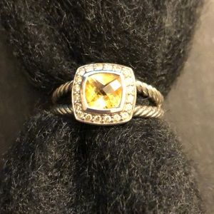 David Yurman Albion citrine petite ring size 7.5